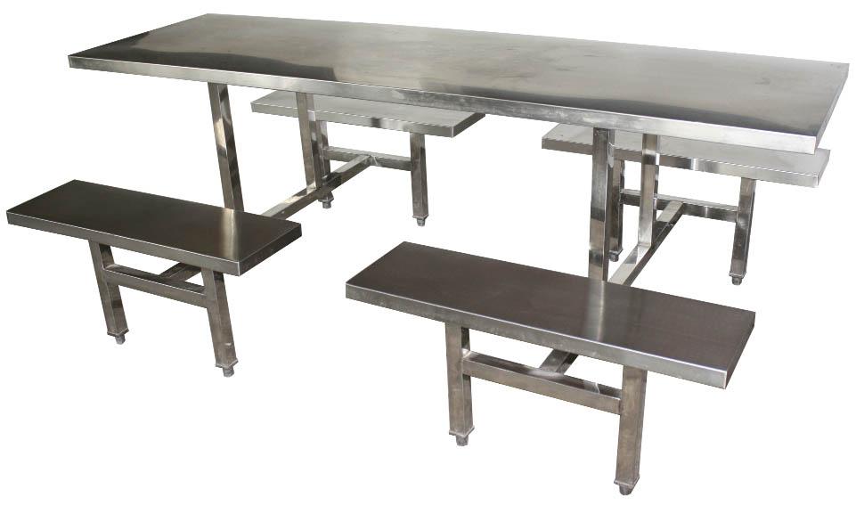 八人不锈钢餐桌椅 MSD-CZ08